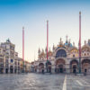 St Marks Square and St. Mark's Basilica in the early morning,Venice,Italy